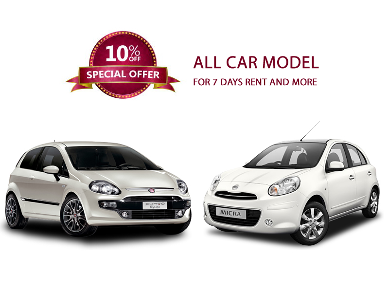 CARRENTAL SPECIAL OFFER DISCOUNT FOR SEVEN DAYS RENT